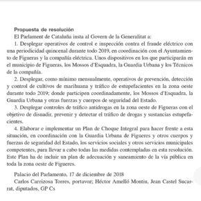 Cs aconsegueix que el Parlament aprovi operatius periòdics de control del frau elèctric i tràfic de drogues en la zona oest de Figueres