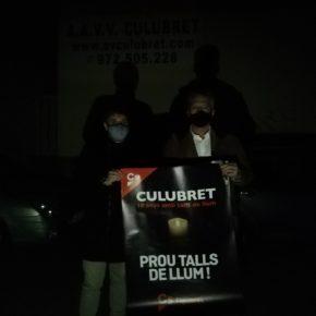 Cs Figueres inicia una recollida de firmes al barri del Culubret per reclamar solucions als talls de llum